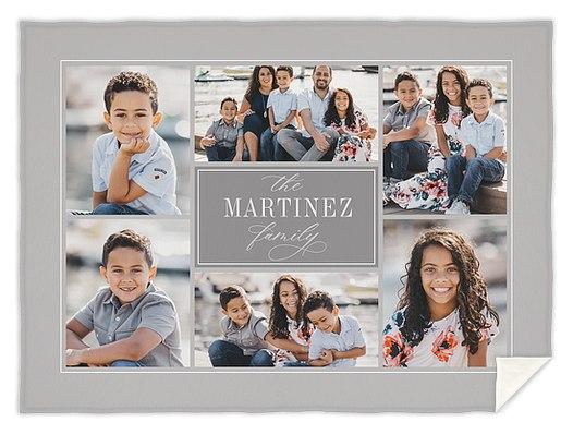 Family Frames Custom Blankets