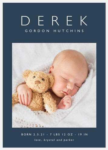 Simplicity Baby Birth Announcements