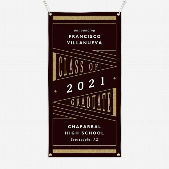 Deco Pennant Graduation Banners