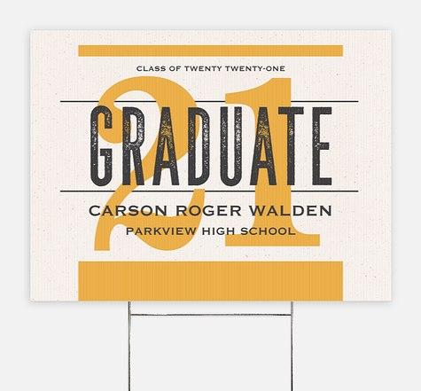 Newsprint Grad Graduation Yard Signs