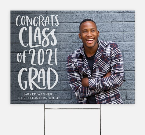 Playful Script Graduation Yard Signs