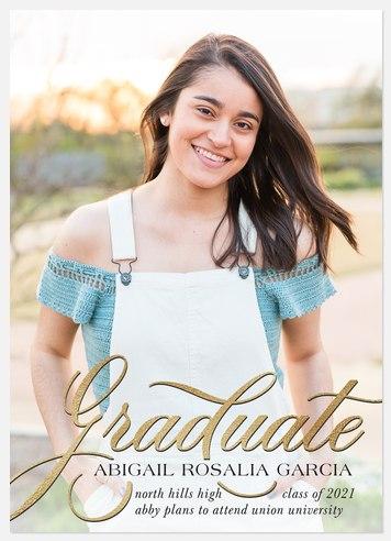 Fanciful Script Graduation Cards