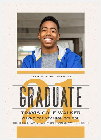 Newsprint Grad Graduation Cards