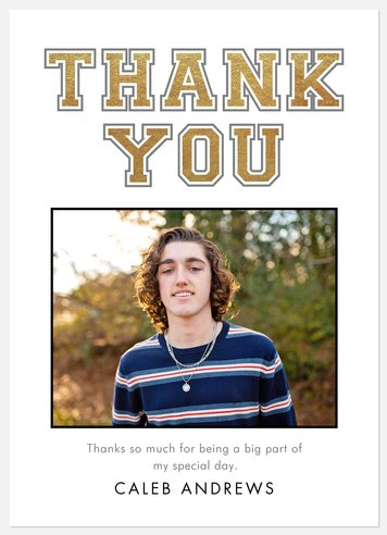 Simply Varsity Thank You Cards