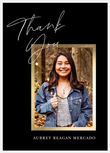 Elegant Snapshot Thank You Cards