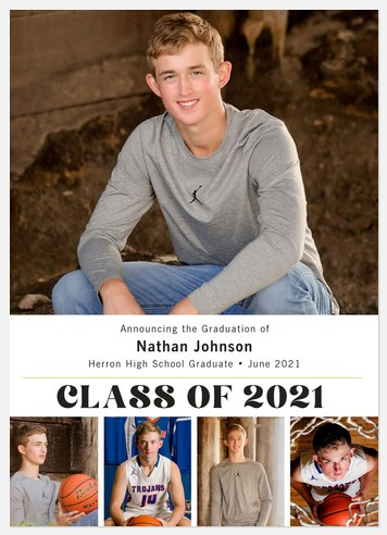 Classic Collage Graduation Cards