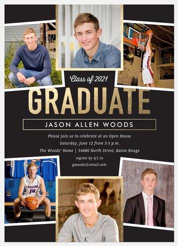Distinguished Collage Graduation Cards