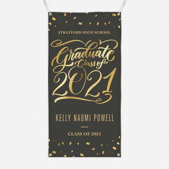 Confetti Flourish Graduation Banners