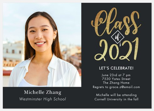 Cap & Calligraphy Graduation Cards