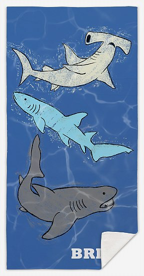 Shark Trio Custom Beach Towels