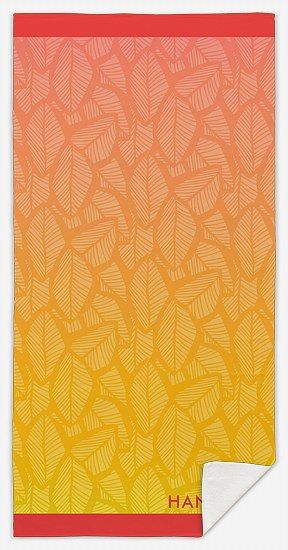 Ombre Leaves Custom Beach Towels