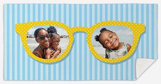 Sunnies and Stripes Custom Beach Towels
