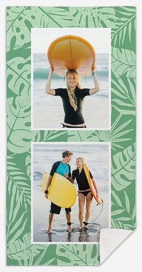 Palm Leaves Custom Beach Towels