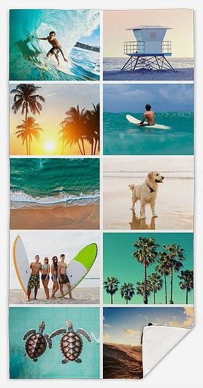 Ten-Photo Collage Custom Beach Towels