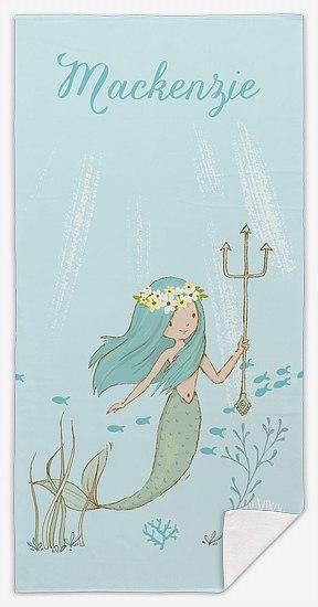 Mermaid Script Custom Beach Towels