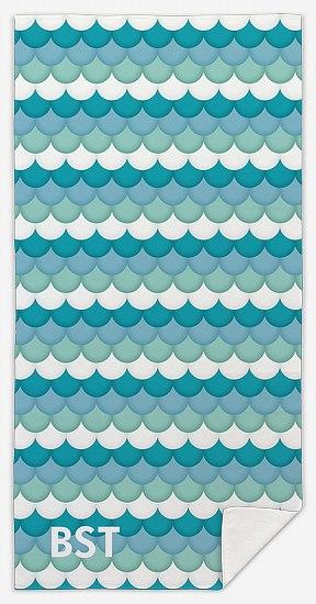 Monogram Scales Custom Beach Towels