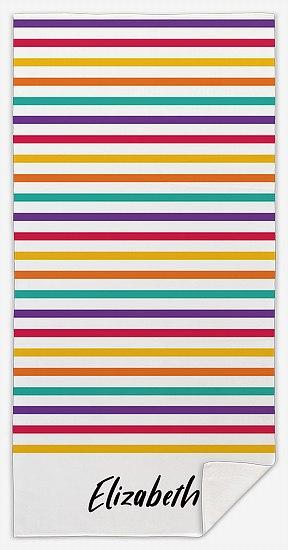 Bright Stripes Custom Beach Towels