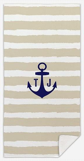 Anchors Aweigh Custom Beach Towels