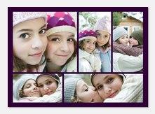 Five Frame Purple -  Photo Announcements