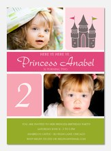 Girl Birthday Party Invitations - Calling All Princesses
