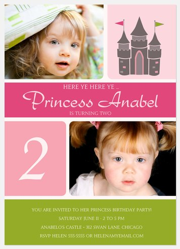 Calling All Princesses Kids' Birthday Invitations