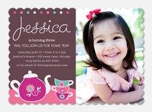 Girl Birthday Invitations - Tasty Tea Time