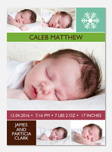 Baby Christmas Cards - Snowflake Baby