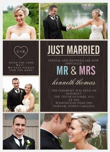 Modern Heart Wedding Announcements
