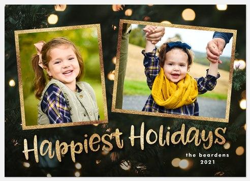 Bold Bokeh Holiday Photo Cards