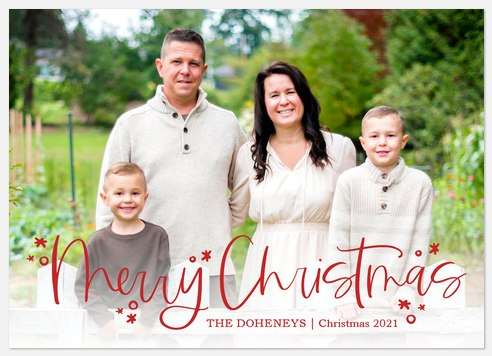 Scarlet Cheer Holiday Photo Cards