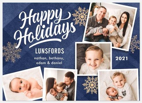 Winter Snowfall Holiday Photo Cards