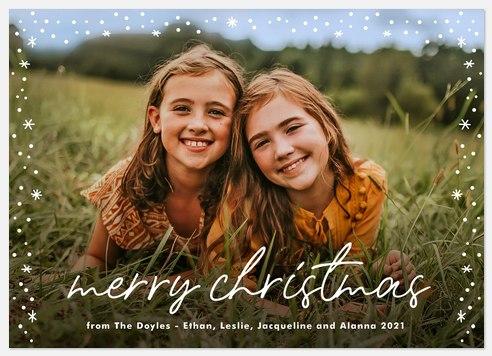 Frosty Fringe Holiday Photo Cards