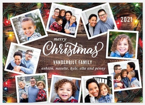 Lights Aglow Holiday Photo Cards