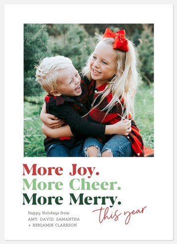 Just More Holiday Photo Cards