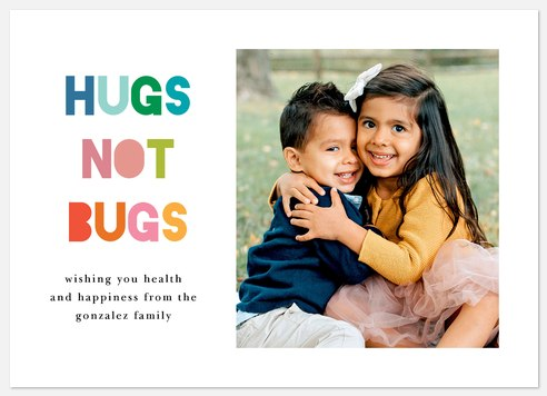 Hugs Not Bugs Holiday Photo Cards