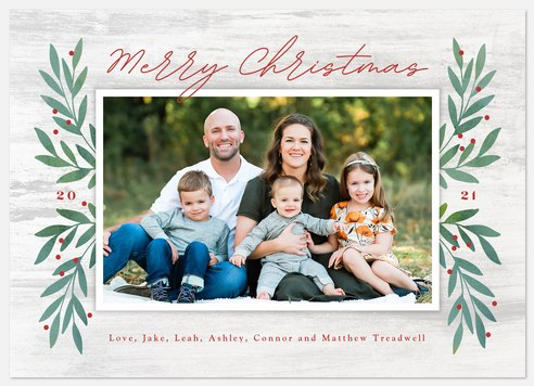 Country Laurels Holiday Photo Cards