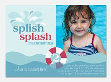Girl Birthday Invitations - splash
