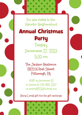 Holiday Party Invitations, Party Wrap Design