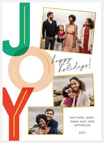 Colorful Joy Holiday Photo Cards