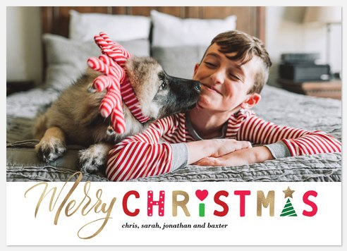 Christmas Cut-Outs Holiday Photo Cards