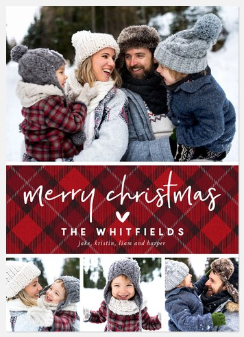 Christmas Flannel Holiday Photo Cards