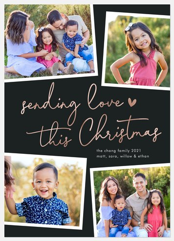 Sending Love Holiday Photo Cards