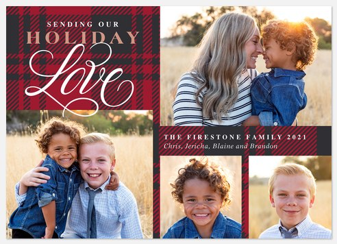 Holiday Flannel Holiday Photo Cards