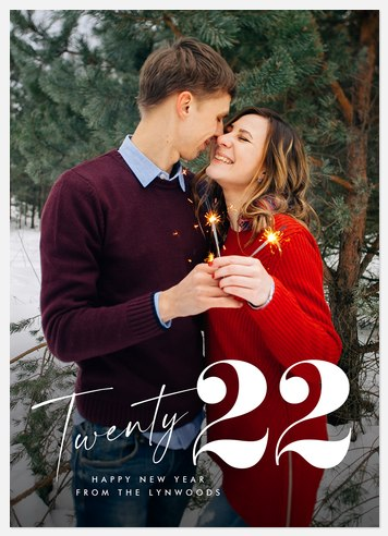 Yearly Overlay Holiday Photo Cards