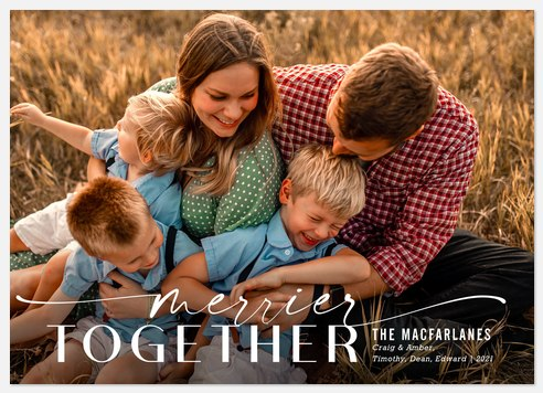 Merrier Together Holiday Photo Cards