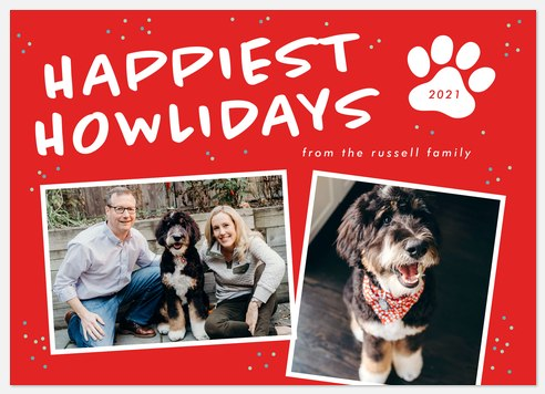 Happiest Howlidays Holiday Photo Cards