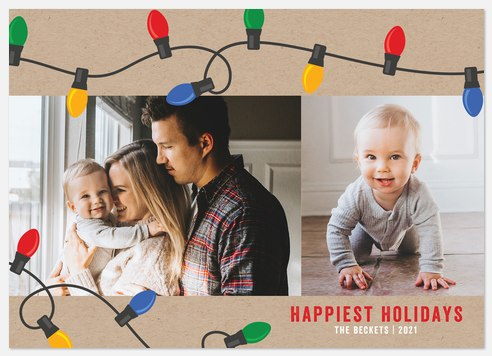 Jolly Lights Holiday Photo Cards