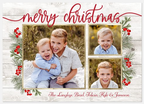Country Pines Holiday Photo Cards