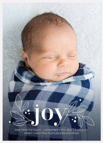 Little Bundle of Joy Holiday Photo Cards