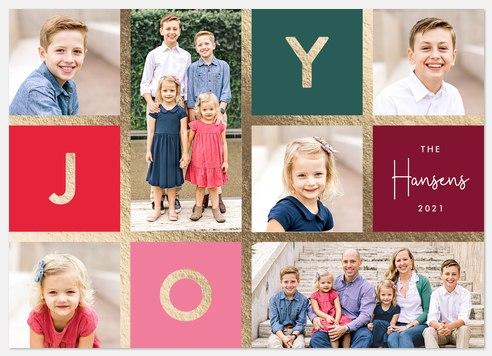 Joyful Mosaic Holiday Photo Cards